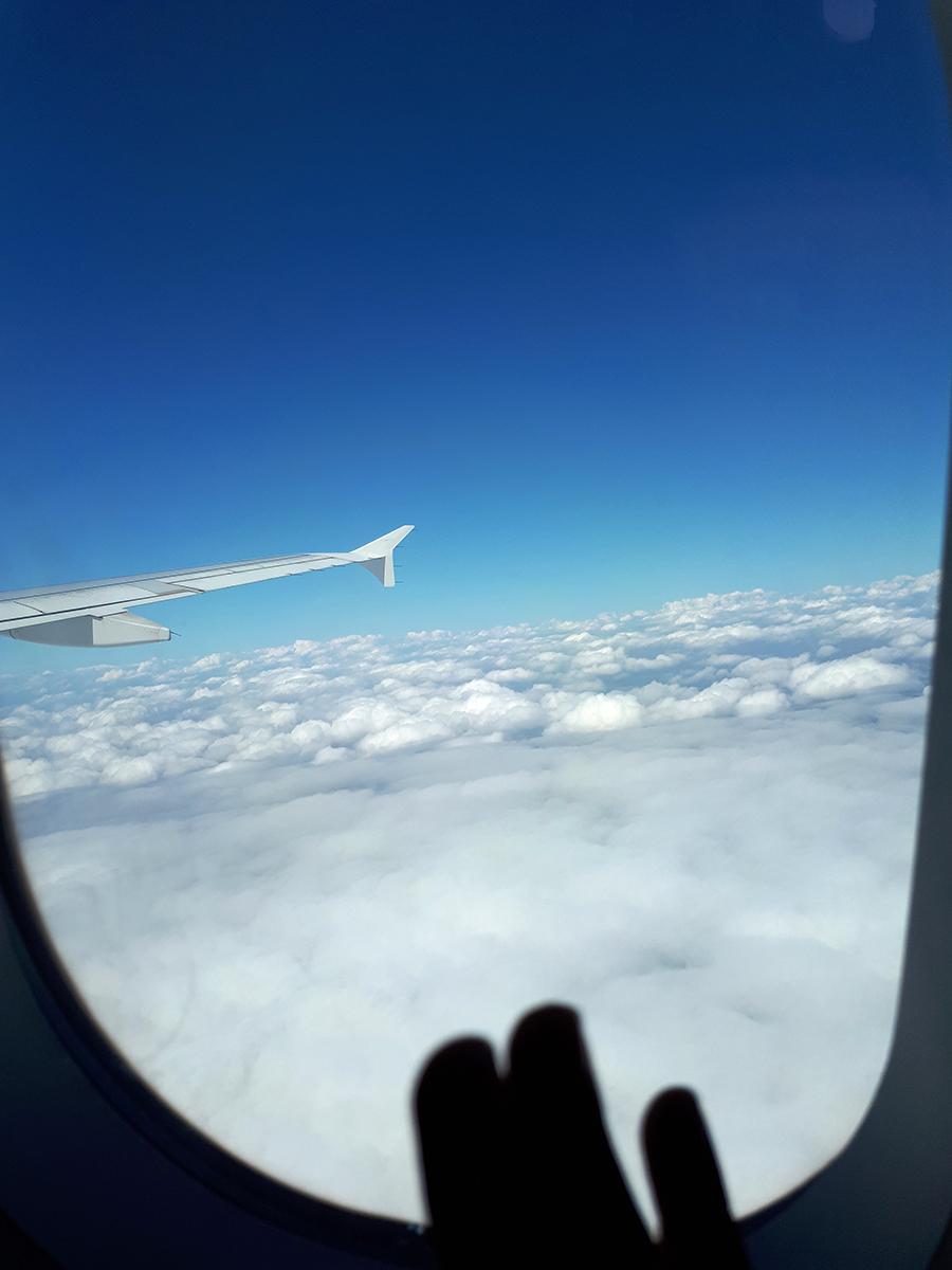 Fotografie mraků z letadla